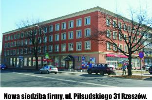 Nowa siedziba firmy, ul. Piłsudkiego 31 Rzeszów